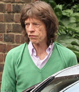 Mick Jagger looking Stressed